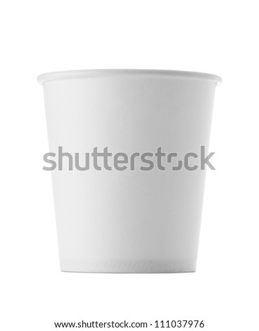 Paper cup , Isolated on white - stock photo