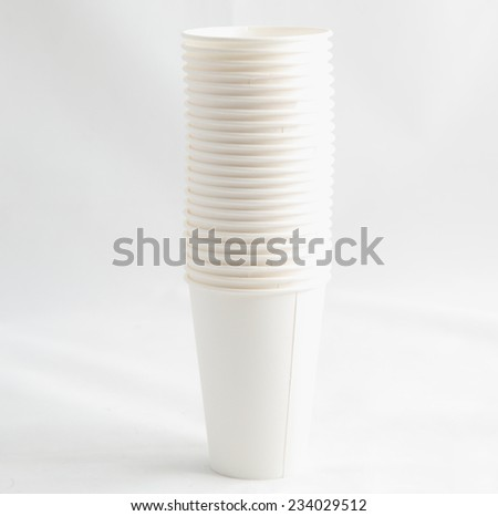 paper cups on a gray background