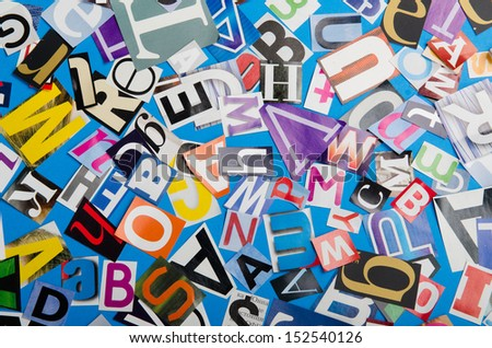Paper cuttings as a baclground - stock photo