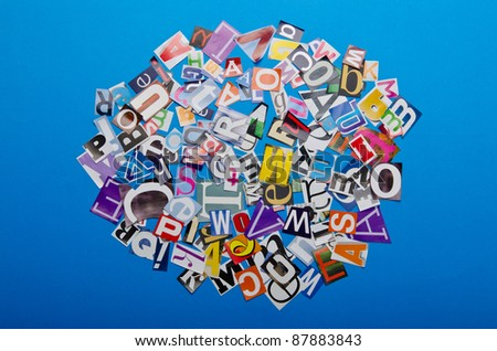 Paper cuttings on the table - stock photo