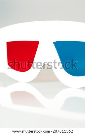 Paper 3D glasses. - stock photo