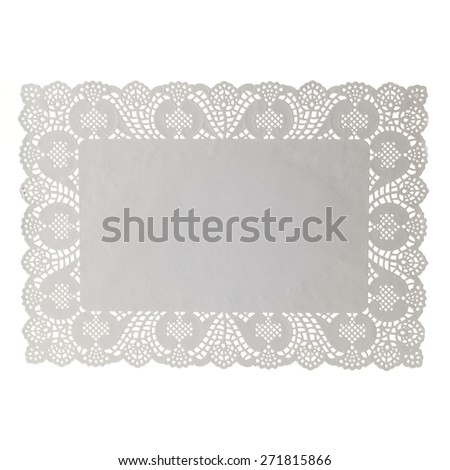 Paper doily isolated on white background - stock photo