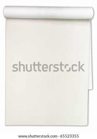 paper drawings sketch book isolated on white background - stock photo