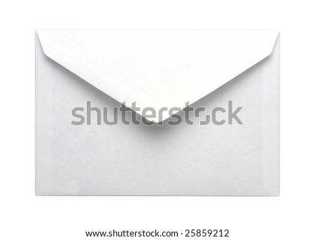 Paper envelope isolated on white background