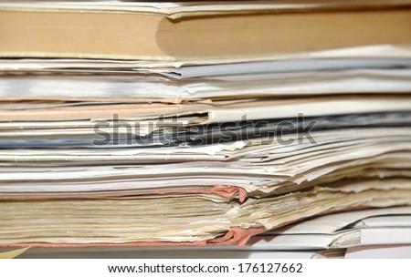 Paper files - stock photo