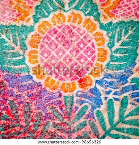 paper flower detail texture backgorund - stock photo