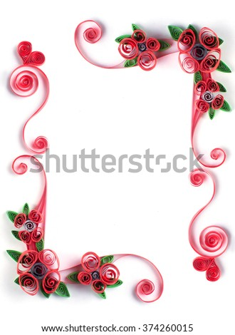 Paper Flowers Quilling Frame Stock Photo & Image (Royalty-Free ...