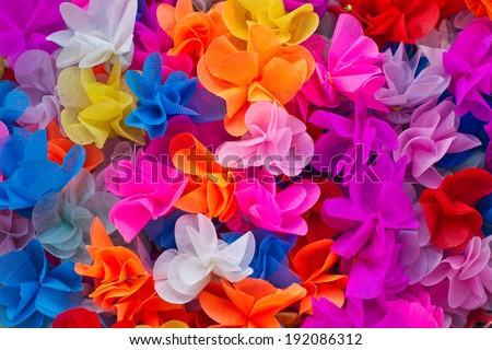 Paper Flowers texture for your background - stock photo