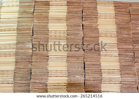 Paper folded piled - stock photo