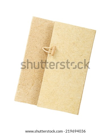 paper folder, isolated on white background. - stock photo