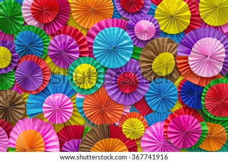 Paper folding multi colored abstract pattern for background. - stock photo