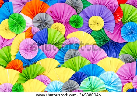 Paper folding Multicolored ,Background of colorful paper folded - stock photo