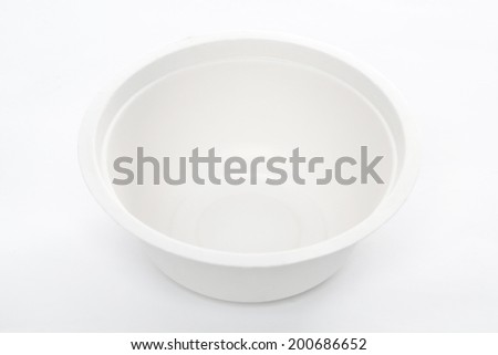 Paper food container close up