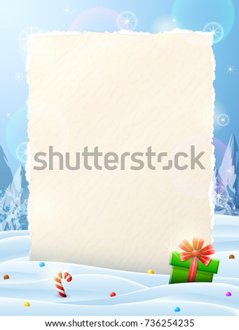 blank christmas list