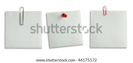 Paper for notes on a white background - stock photo