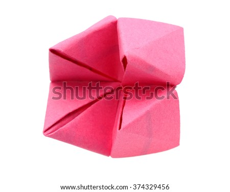 Paper Fortune Teller close up - stock photo