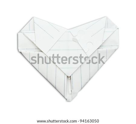 Paper heart - stock photo