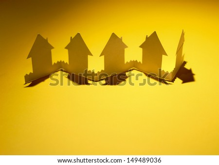 Paper houses - stock photo
