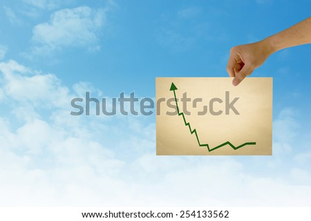paper in man hand in stock on natural background There is space for you to add your text - stock photo