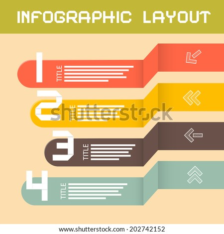 Paper Infographics Layout - Template - stock photo