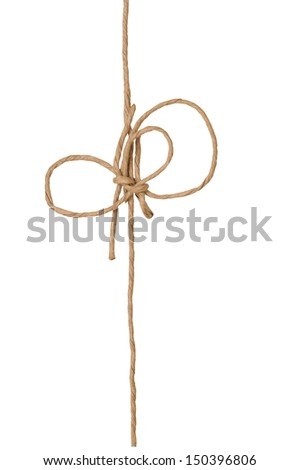 paper knot isolated on white