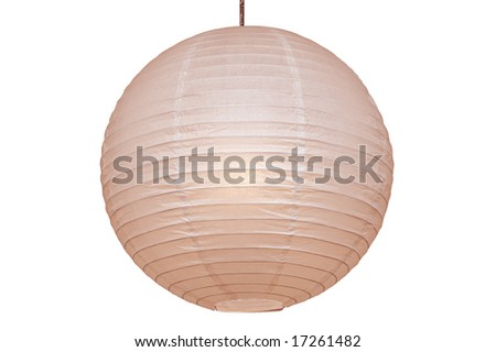 paper lamp isolated on white background - stock photo