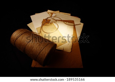 paper letter old postal stationery - stock photo