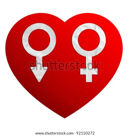 paper male and female signs valentines day greeting - Valentine Signs