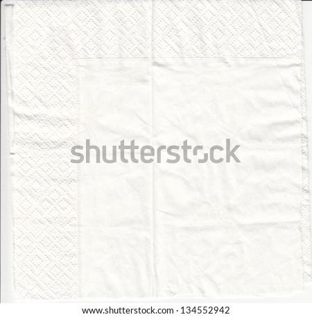 Paper napkin - stock photo