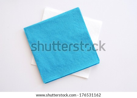 paper napkin - stock photo