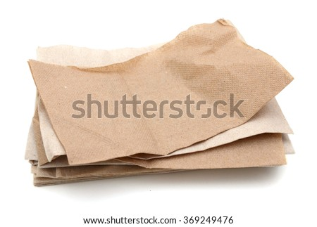 Paper napkin of recycled papers