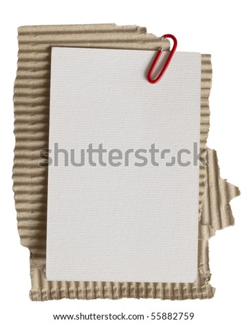paper note on cardboard - stock photo