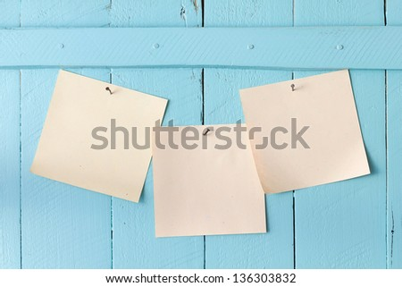 Paper note on wall - stock photo