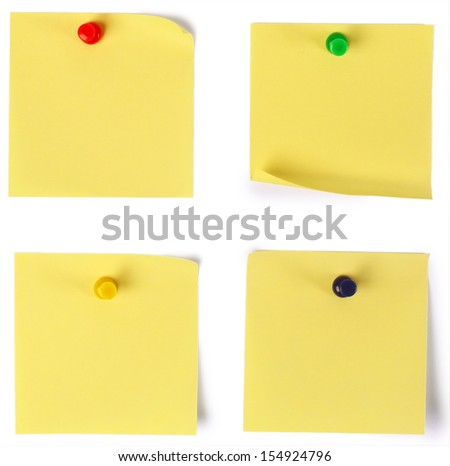 paper note on white background  - stock photo