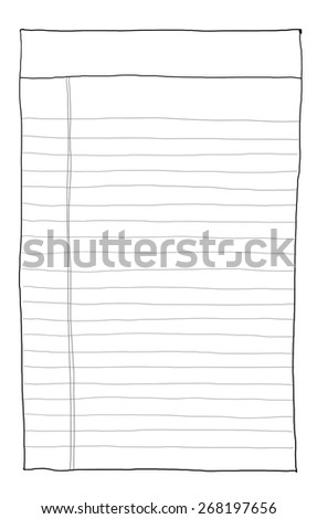 paper note vintage 2 line art - stock photo