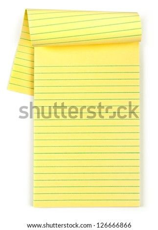 paper notebook isolated - stock photo