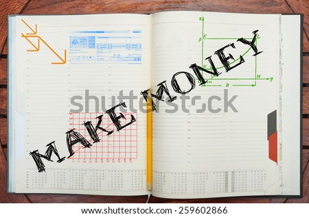 paper notebook with inscription  - stock photo