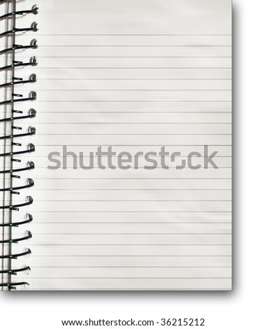 paper notebook with some soft shades on it