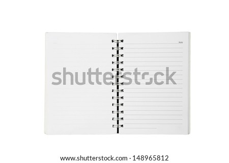 paper notebook with spiral notepad isolated on white - stock photo