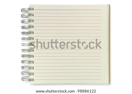 Paper notepad on white isolate background - stock photo