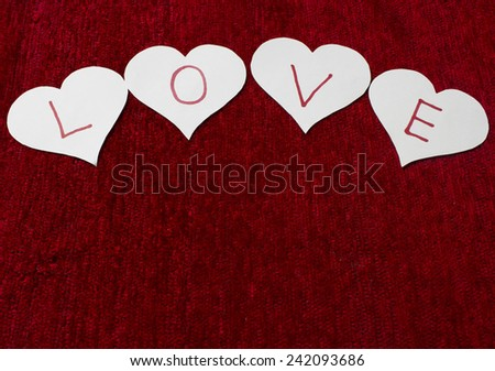Paper of love - stock photo
