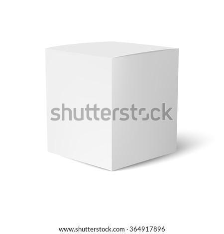 Paper or cardboard box template standing on white background. Packaging collection. illustration - stock photo