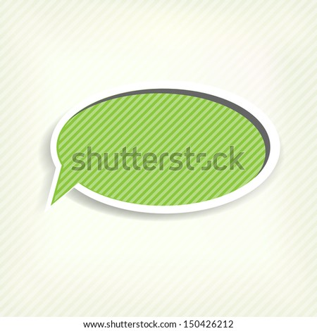 Paper origami speech bubble. Colored blank for text - stock photo