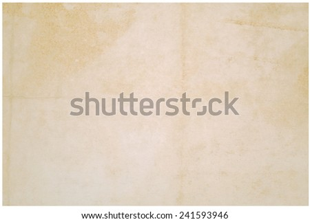 paper over white background