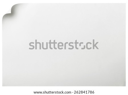 Paper page with curl, copy space for your text. - stock photo