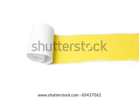 Paper peel - stock photo