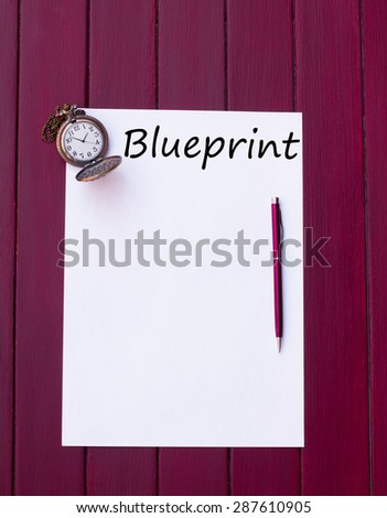 Paper pen pocket watch stock photo 287610905 shutterstock paper pen and pocket watch malvernweather Image collections