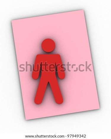 Paper people - stock photo