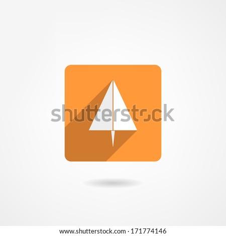 paper plane icon - stock photo
