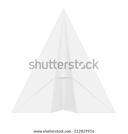 Paper Plane isolated on white background - stock photo